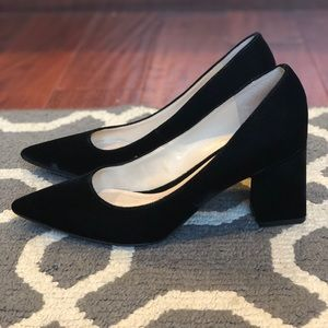 Marc Fisher Blk Zala Suede Pointed Toe Pumps Sz 8